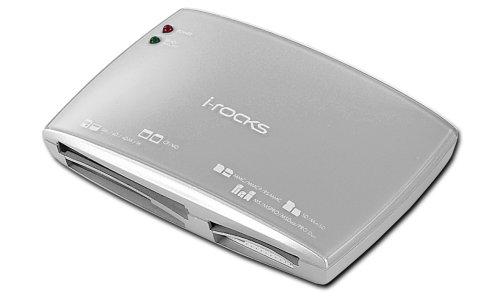 i-rocks lettore USB Kartenleser Multimedia alle Formate, Farbe: Silber