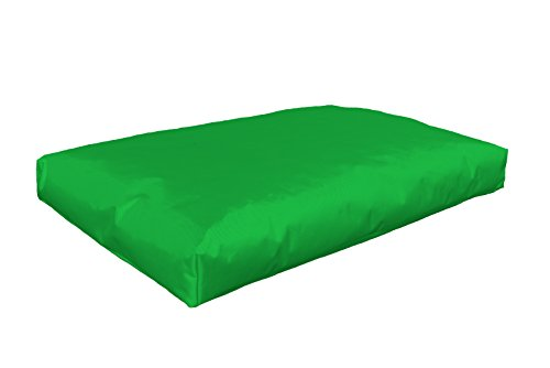 berlinpillow.de 4260406165130 Original Bean Bag In und Outdoor Palettenkissen Pallets Bag 120 x 80 x 10 cm, apfelgrün