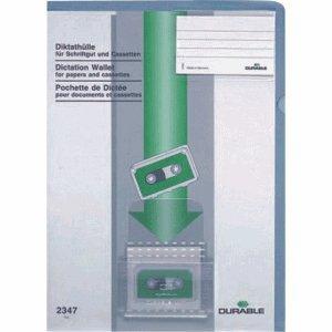 20 x Durable Diktathülle PVC 0,28mm für A4 blau