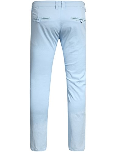 SSLR Herren Slim Fit Strecken Hosen Aquatic Blau