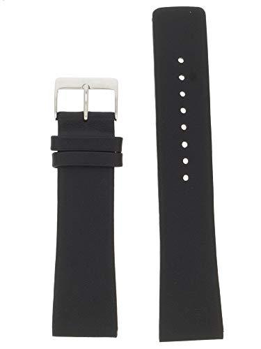 Skagen Uhrband Wechselarmband LB-691LSLS Original Ersatzband 691LSLS Uhrenarmband Leder 23 mm Schwar