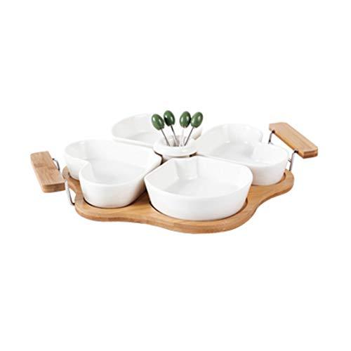 Bambú de cerámica y bandeja de frutas moderna sala de...