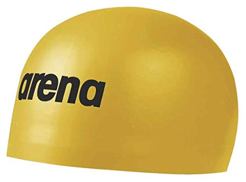 arena 3D Soft Cap Badekappe Gold Medium