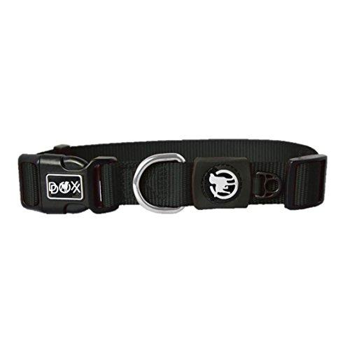 Hundehalsband Halsung aus Premium-Nylon verschiedene Farben und Groessen XS, S, M, L, XL: verstellbar, stabil, bequem, weich, farbig, fuer grosse und kleine Hunde (Leine und Geschirr separat erhaeltlich) (Farbe Schwarz, Größe XS – 1,0 x 21-30 cm) - 4