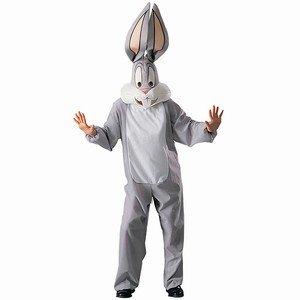 Rubie's Loones Tunes-Bugs Bunny-Kostüm für Erwachsene grau-Weiss ()