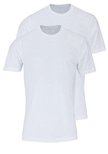 Olymp Herren T-Shirt - Doppelpack O-Neck Weiß
