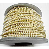 #8: Pearl chain for jewellery making,perfect for jhumkis and bangles! 3mm pearl size