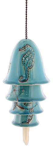 Charakteristische Designs Nautical Keramik Windspiel türkis Crackle Glasur