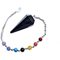 Dowser - Black Tourmaline With Seven Chakra Chain Pendulum Chakra Balancing & Reiki Healing Dowser Spiritual divination preisvergleich bei billige-tabletten.eu