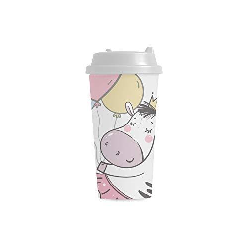 nst lustiger kundenspezifischer personalisierter Druck 16 Unze Doppelwand Plastikisolierte Sportwasser Flaschen Schalen Pendler Reise Kaffeetassen für Studenten Frauen Milch ()