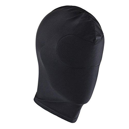 Tiaobug Unisex Bondage BDSM Maske Kopfmaske Bankräuber Maske Halloween Kostüm Ganzkörper Ganzkopf Full Face Abdeckung (One Size, Kein Loch)