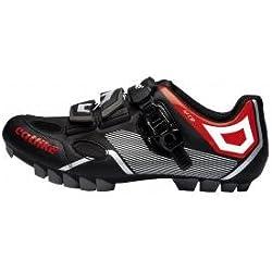 Catlike Sirius MTB Zapatillas Ciclismo, Spinning, Unisex Adulto, Negro-Rojo, 45 EU