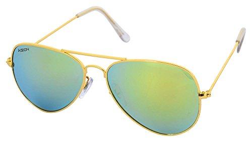 ADDON EYE WEAR Unisex Sunglasses (Aviator Golden P...