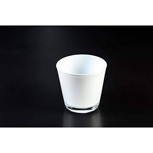 INNA-Glas Petit photophore en Verre Alex, Blanc, 7,5cm, Ø 7,5cm - Bougeoir - Porte-Bougie