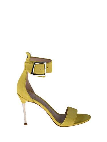 Guess Sandalo Tacco Giallo Camoscio 37 - Primavera Estate