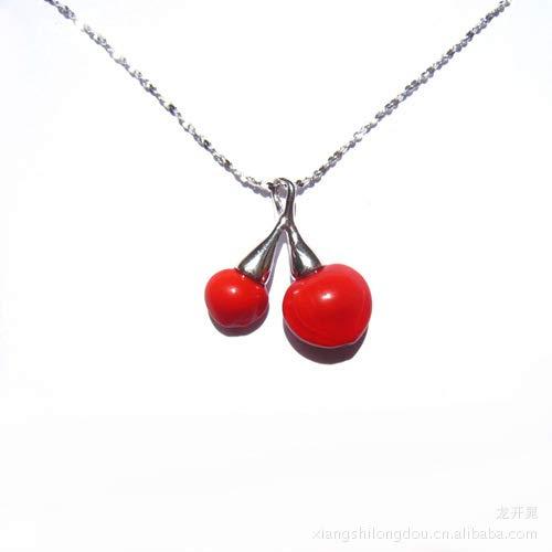 BUSHELKL Bean Necklace_Pure Natürliche 925 Achat Bohnen Halskette Anhänger Großhandel Paar Dekoration Geschenk