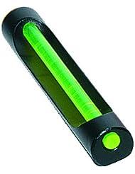 Mira de aluminio con fibra óptica verde Round 6 x 50