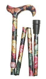 ladies-adjustable-folding-floral-walking-stick-cane-dark-multi-coloured-by-classic-canes