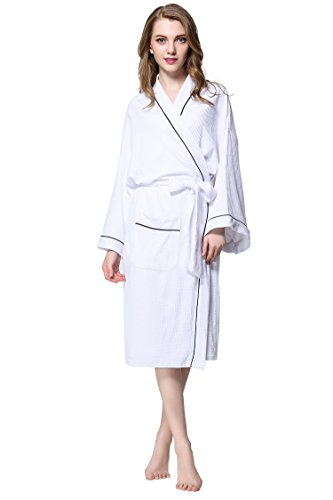 aibrou-unisex-waffle-weave-white-dressing-gown-100-cotton-lightweight-bath-robe-for-spa-hotel-sleepw