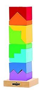 Woodyland 9 x 26 cm Didácticos Juguetes Stacking Torre (9 Piezas)