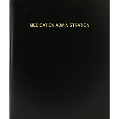 Administración medicación BookFactory/cuaderno/Cuaderno Diario - página 120, 21,59 cm x 27,94 cm, negro tapa dura (XLog - 120-7cs-a-l - negro (brasileña Bertin cuaderno))