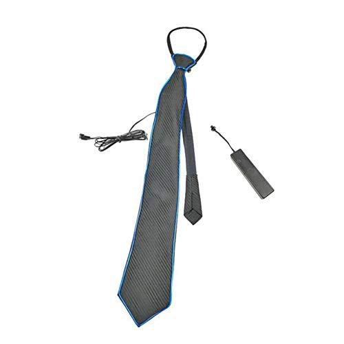 jinclonder leuchten Krawatte leuchtende Krawatte Einstellbare leuchtende Krawatte für Männer für Halloween Weihnachten Rave Party Performance Kostüm Zubehör Cosplay Nacht Show (Rave Kostüme Männer)
