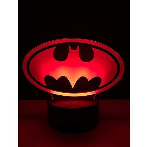 Cute Batman Multicolor Schlafzimmer dekoratives Nachtlicht USB LED 3D Tischlampe Beleuchtung Kabel Kinder Geschenk Party Atmosphäre