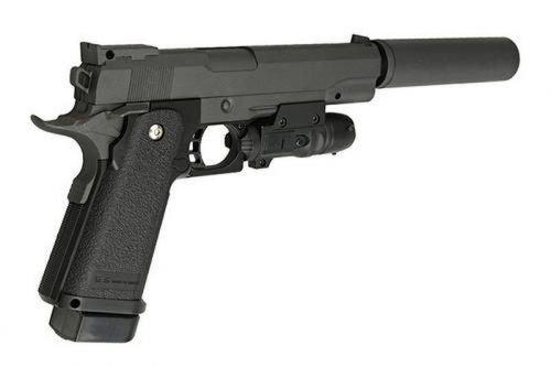 Luftpistole mit Schalldämpfer, Federdruck , 6 mm kaliber, 16 Schuss, < 0.5 Joule   G6A