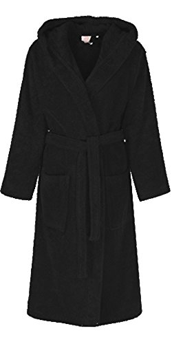 e8842c012d Unisex 100% Egyptian Cotton Luxurious Bathrobe Terry Towelling Hooded  Dressing Gown (UK Size S