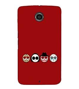 EPICCASE Scary Faces Mobile Back Case Cover For Motorola Google Nexus 6 (Designer Case)