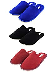 Travelkhushi Combo Slippers - Pack of 3 Pairs