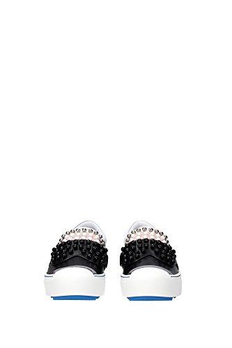 8E60216VQF01CP Fendi Pantoufle Femme Cuir Noir Noir