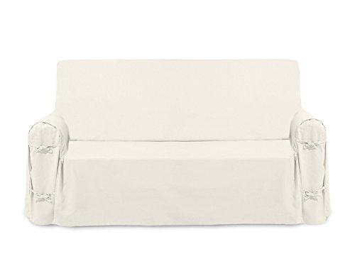 Soleil d'ocre fodera per divano in cotone panama Écru