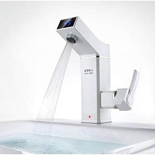 JYSLTLRS Wasserhahn 3500W Elektro-Durchlauferhitzer Wasserhahn Durchlauferhitzer Elektro-Warmwasserhahn Durchlauferhitzer Badezimmer Küchenarmatur, Weiß (Durchlauferhitzer Kaufen)