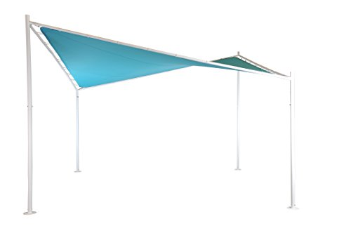 Sorara - Schmetterling Schattentuch | Ozeanisch Blau | 400 x 400 cm | Viereckig | Polyester 300...