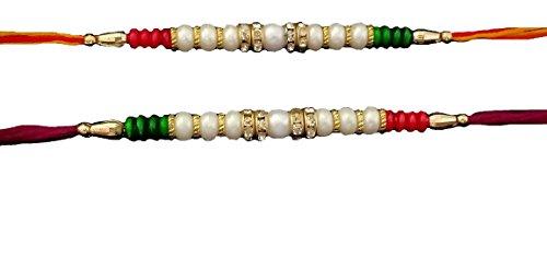 G&D Satz von Zwei Rakhi Thread, Raksha Bandhan Geschenk für Ihren Bruder, Rakhi für Bruder, Rakhi Armband, Rakhabandhan Rakhi, Rakshabandhan Festival(Multi Color Thread)