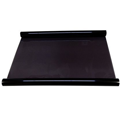 AERZETIX - 2 X 3m =6m Breite 75cm Tönungsfolien Glas Verdunkelungsfolie für Auto Auto Fensterglas Oberlichter Gebäude schwarz (Black) 25%