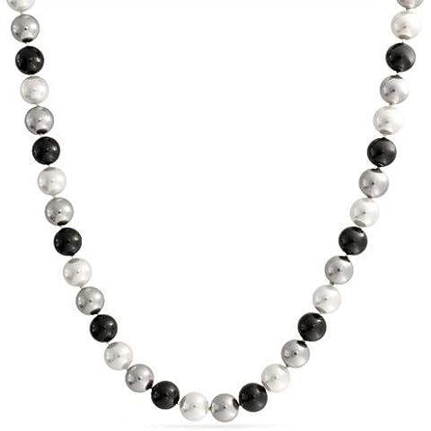 Bling Jewelry A 10 millimetri Grade Grigio Nero Bianco South Sea Shell Pearl Necklace (10 Millimetri Sintetico Perle)