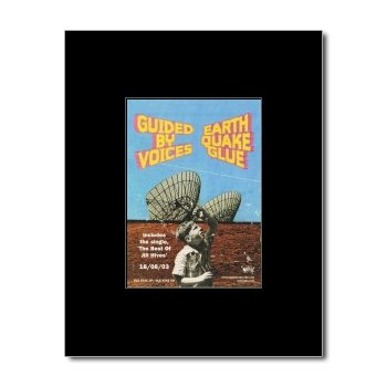 GUIDED BY VOICES - Eathquake Glue Matted Mini Poster - 13.5x10cm