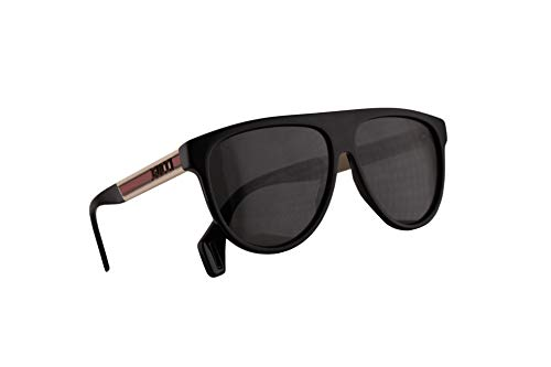 Gucci GG0462S Sonnenbrille Schwarz Weiß Mit Grauen Gläsern 58mm 002 GG0462/S 0462/S GG 0462S