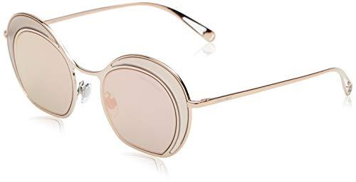 Occhiali Da Sole Donna Giorgio Armani 6073 30114Z Marrone Rotondo a Specchio