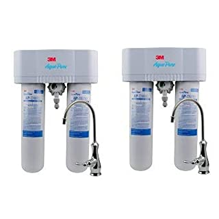 3M Aqua-Pure Under Sink Water Filtration System - Model AP-DWS1000 (2-(Pack))