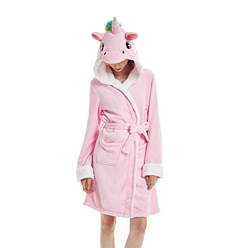 Unicornio Rosa Albornoces Mujeres Albornoces Animal Albornoces Encapuchado Ropa de Dormir