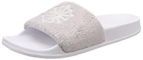 Reebok Unisex-Kinder Classic Slide Dusch- & Badeschuhe Mehrfarbig (White/LGH Solid Grey/Terry 000) 37.5 EU