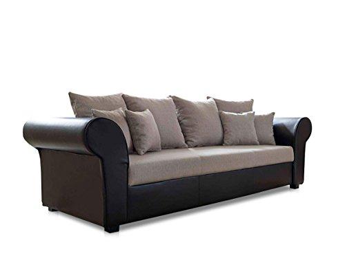 LESSY BIG Sofa, Microfaser braun - 2