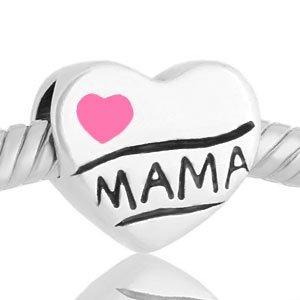 Abalorio Niagarra Corazón Te quiero mamá rosa, similar abalorios pandora dia de la madre