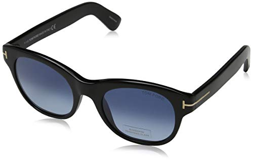 Tom Ford Sonnenbrille FT0532 51 01W Occhiali da Sole, Nero (Schwarz), 51.0 Donna