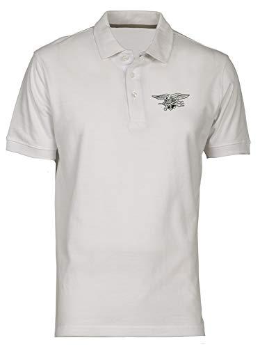 Speed Shirt Polo fur Mann Weiss TM0382 Navy Seal USA