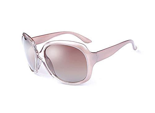 ZXY Modische Damenbrille mit rundem Rahmen Explosionsgeschützte Gläser für weibliche Modelle UV-Schutz UV400-Gradient-Sonnenbrille,Pink