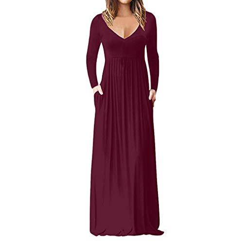 Frauen Casual Sleeve V-Ansatz Solide Maxi Tank Langes Kleid Kurzärmeliges, Einfarbiges Kleid Mit V-Ansatz Zip Tank Kleid
